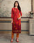 Maroon Color Festive Wear Printed Rayon Stylish Pant Suits