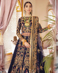 Blue Color Anarkali Unstitched Pakistani Salwar Kameez Suits