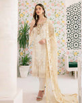 Off White Color Fox Georgette Unstitched Pakistani Salwar Kameez Suits