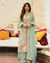 Sea Green Color Jam Silk Cotton Unstitched Printed Pakistani Salwar Kameez Suits