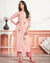 Pink Color Casual Wear Cotton Stylish Pant Suits