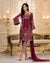 Wine Pink Color Dress Material Pant Style Pakistani Suit