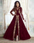Maroon Color Bridal Wear Semi Stitched Embroidery Anarkali Suit