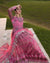 Pink Color Bridal Wear Georgette Dress Material Pakistani Suit