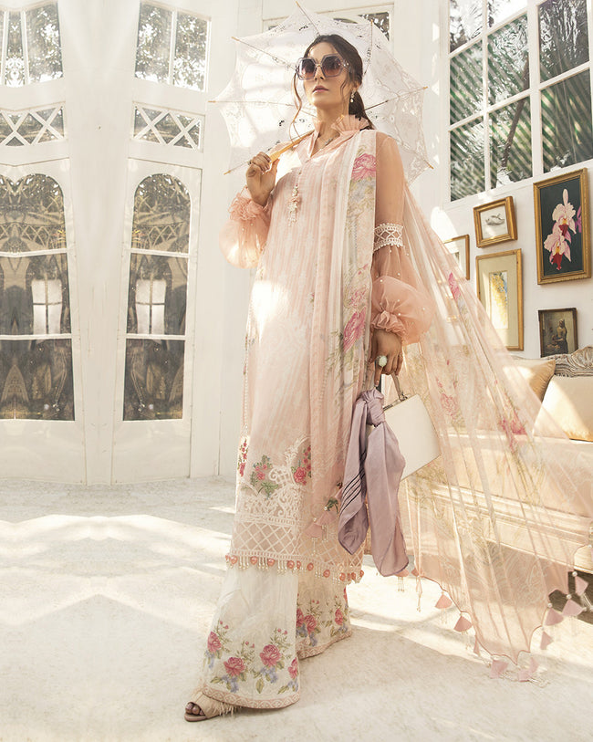 Glowing Pink Color Pure Cotton Lawn Printed Suit