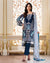 Blue Color Dress Material Pant Style Pakistani Suit