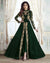 Green Color Party Wear Semi Stitched Embroidery Anarkali Suit