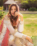Lovely Off White Color Fox Georgette Unstitched Pakistani Suit