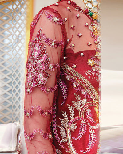 Red Color Bridal Wear Unstitched Pakistani Salwar Kameez Suits