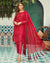 Gorgeous Red Color Bridal Wear Unstitched Pakistani Pant Suits