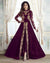 Purple Color Festive Wear Semi Stitched Embroidery Anarkali Suit