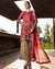 Red Color Bridal Wear Georgette Dress Material Pakistani Suit