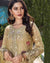 Beige Color Traditional Wear Georgette Dress Material Pakistani Suit
