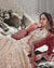 Beige Color Party Wear Net Semi Stitched Anarkali Gown Dress with Maroon Jacket