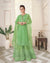 Green Colored Ethnic Wear Semi Stitched Sharara Suit