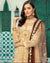Beige Color Unstitched Pakistani Pant Suits With Double Shade Dupatta
