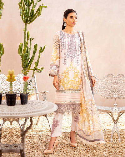 Off White Color Pure jam Cotton Printed Pakistani Stylish Palazzo Suit (Made in India)