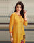 Yellow Color Festive Wear Printed Rayon Stylish Pant Suits