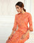 Orange Color Festive Wear Printed Palazzo Style Suits