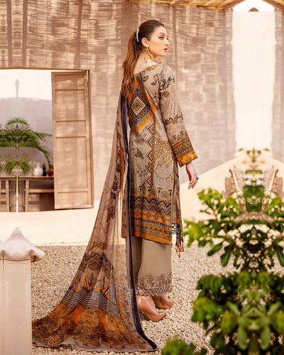 Light Brown Color Cotton Printed Pakistani Stylish Palazzo Suit (Made in India)