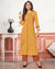 Mustard Yellow Color Cotton Stylish Pant Suits