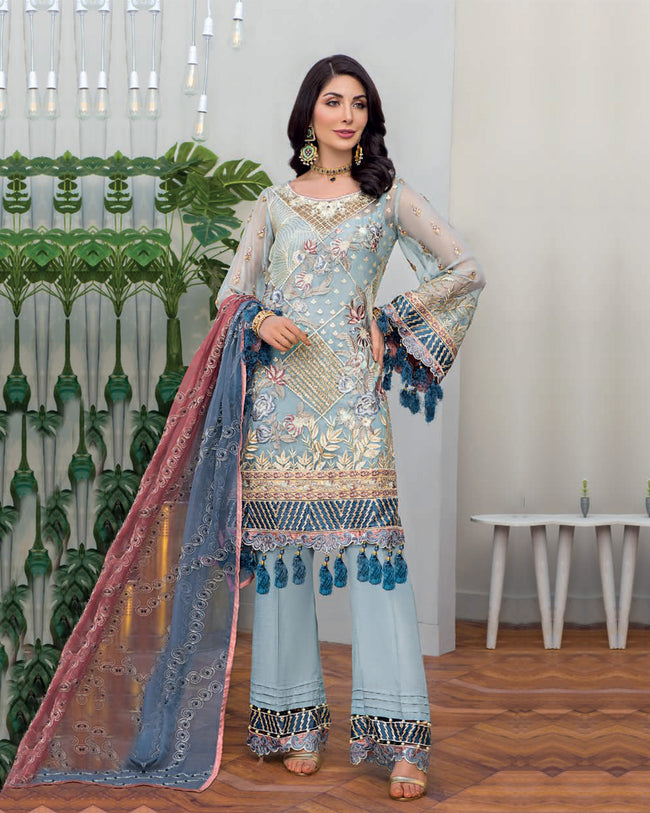 Maryam's Gold Luxury Embroidered Chiffon Collection Vol 6 MG-66 - 100% Original Pakistani Suit