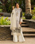Off White-Black Color Pure Cotton Printed Pakistani Suit (Made in India)