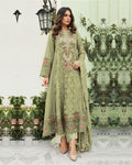 Light Green Color Georgette Unstitched Dress Material Pakistani Suit