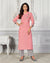 Pink Color Casual Wear Rayon Slub Palazzo Suit