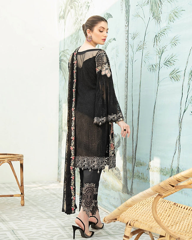 Ramsha Chiffon Vol-19 F-1907 100% Original Unstitched Pakistani Suit