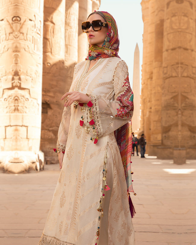 Beige Color Pure Cotton Lawn Collection Suit