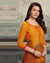 Mustard Yellow Color Casual Wear Printed Rayon Stylish Pant Suits