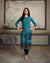 Blue Color Casual Wear Printed Rayon Stylish Pant Suits