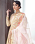 Peach and Pink Colored Bridal Wear Unstitched Heavy Pakistani Salwar Kameez Suits
