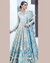 Blue Colored Bridal Wear Unstitched Heavy Pakistani Salwar Kameez Suits