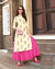 Off White Color Fancy Embroidery Work Kurti with Skirt Suit
