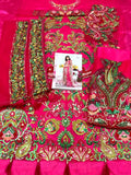 Beautiful Dark Pink Colored NET Heavy Embroidery Pakistani Suit