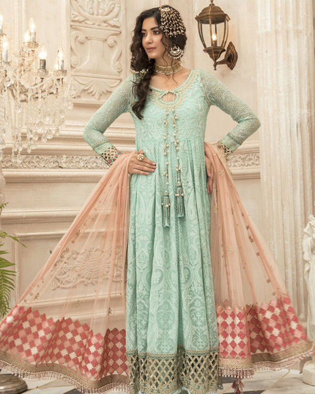 Blooming Green Color Georgette Pakistani Anarkali Style Suit