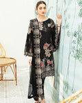 Dazzling Black Color Georgette Unstitched Pakistani Suit