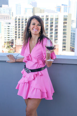 Entrepreneur and Philanthropist Carol Brymm Wearing the Paloma Contorno Belt