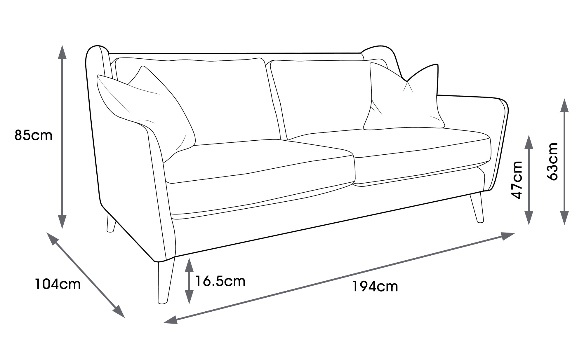 Fern Velvet Large Sofa
