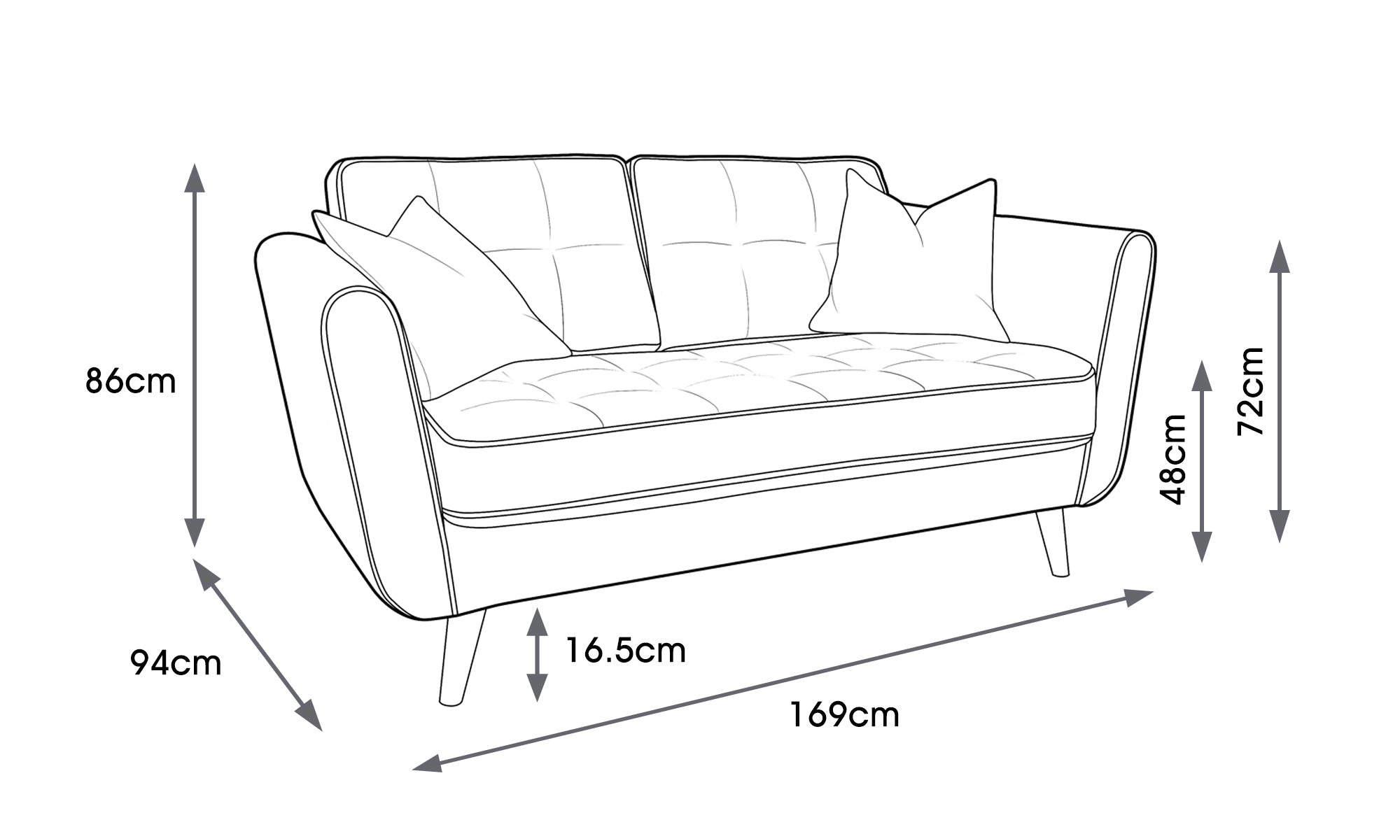 Ivy Fabric Small Sofa