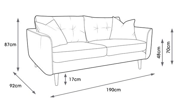 Linden Medium Sofa Linear Stem