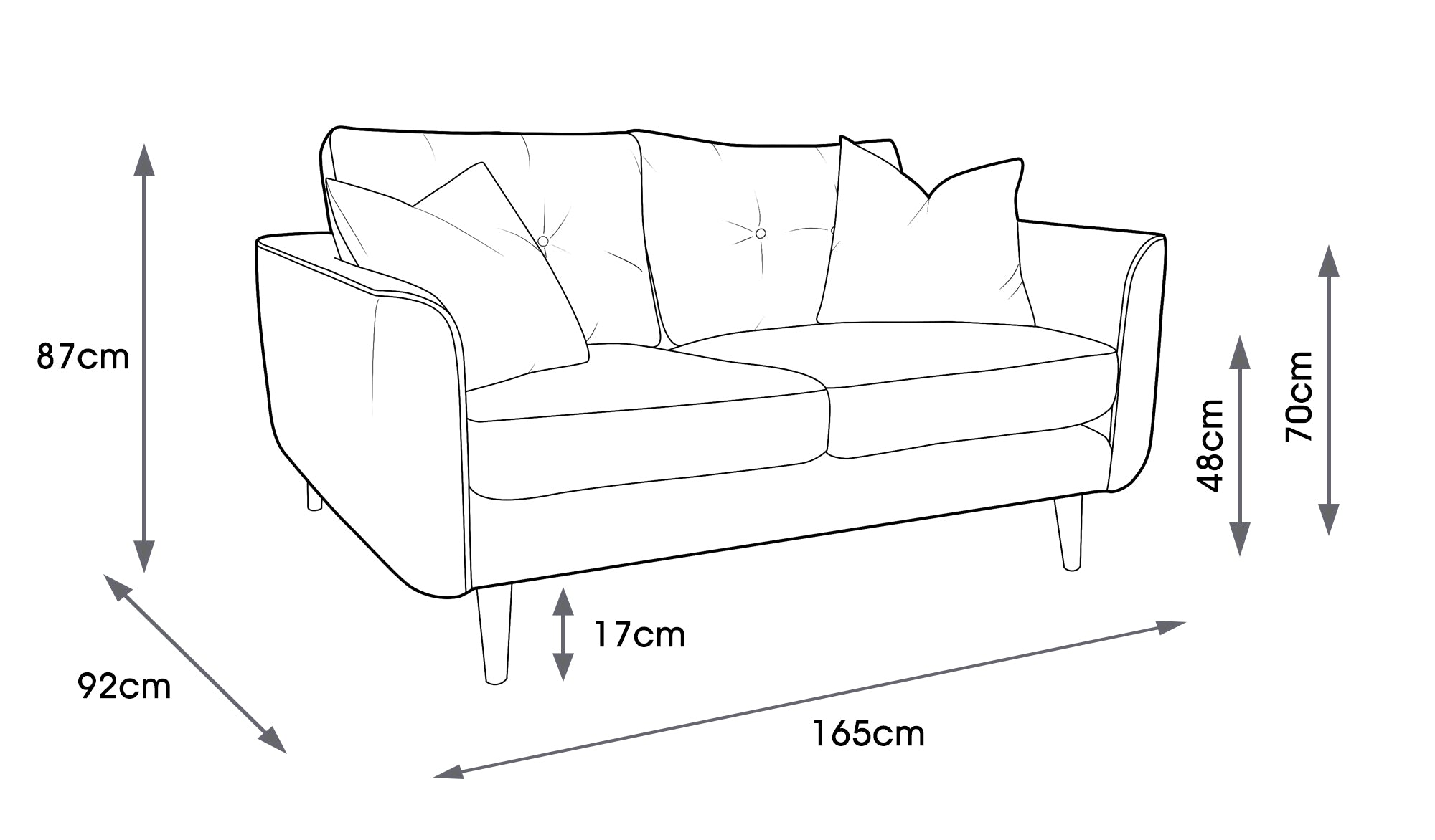 Linden Small Sofa Linear Stem