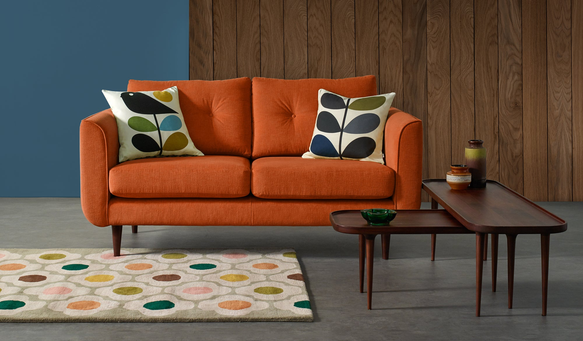 Linden Fabric Medium Sofa
