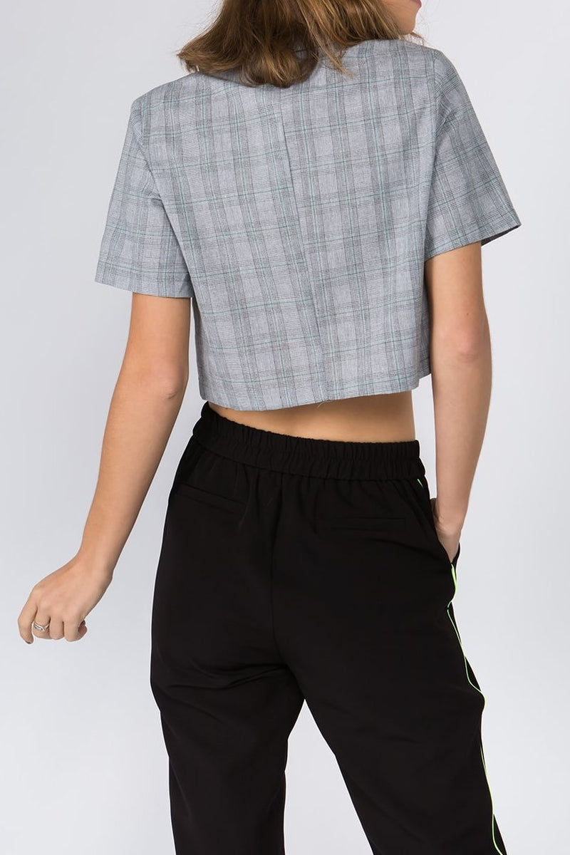 Mia Cropped Button Down Shirt