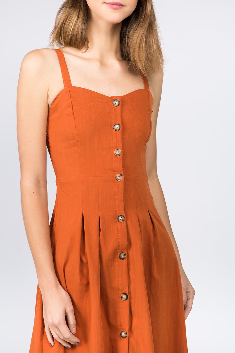 Laguna Button-Down Midi Dress