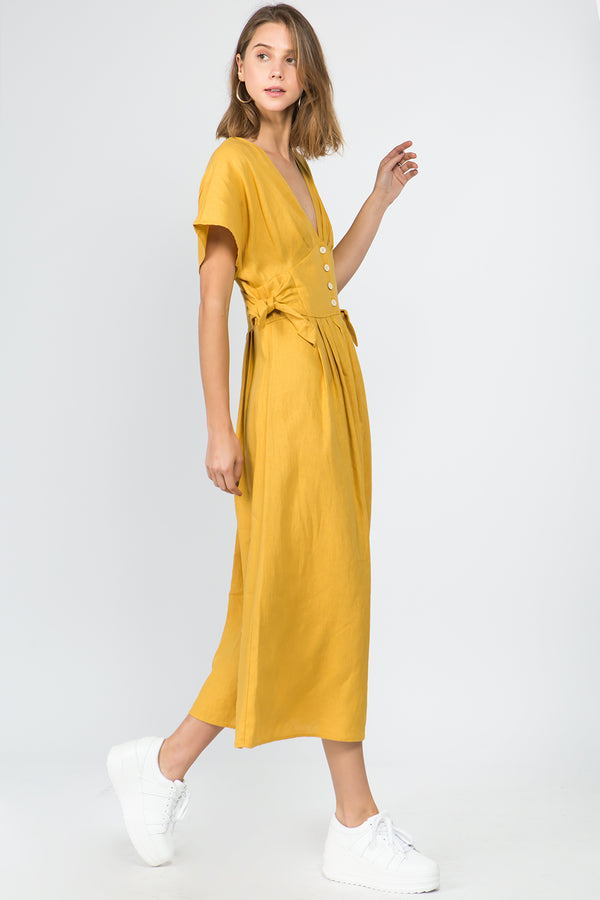 The Wren Linen Dress