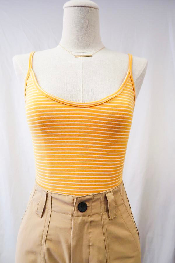 Gina Striped Cami Top in Yellow