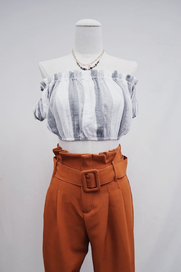 Ani Ruffle Cropped Top